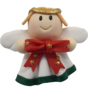 Cherubic Angel with holiday bow